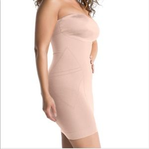 Spanx simmer and shine strapless body shaper